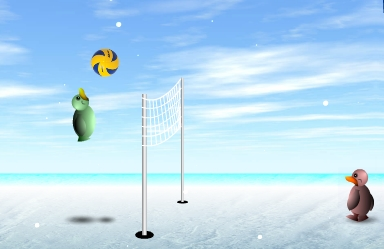 Funny volleyball
